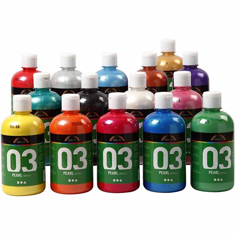 Μεταλλικές Ακρυλικές Μπογιές Α-Color